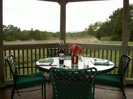 Chilmark Martha's Vineyard vacation rental - Dine in the comfort of this Screened in Porch with water views.