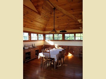 Chilmark Martha's Vineyard vacation rental - High ceilings inspire a jubilant dining experience.