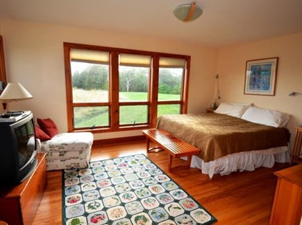 Chilmark Martha's Vineyard vacation rental - The master bedroom has sweeping views of the ocean of course!
