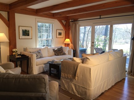 Vineyard Haven Martha's Vineyard vacation rental - . . . flows into the living room, with a wall of French doors.