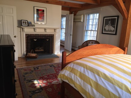 Vineyard Haven Martha's Vineyard vacation rental - The sunny master bedroom has vaulted ceilings, skylights, and AC.