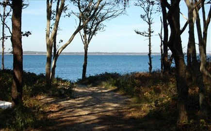 Vineyard Haven Martha's Vineyard vacation rental - The path to our private association beach.