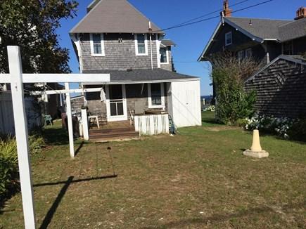 Oak Bluffs Martha's Vineyard vacation rental - Back yard with BBQ grill & outdoor shower
