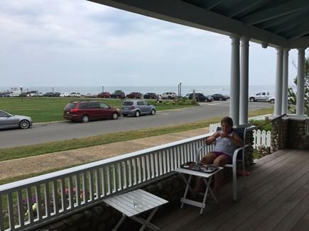 Oak Bluffs Martha's Vineyard vacation rental - Front Porch on Ocean Park