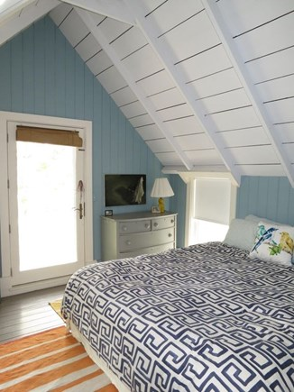 Oak Bluffs Martha's Vineyard vacation rental - Master overlooks pond and sound. Luxury Cal King bed, window a/c