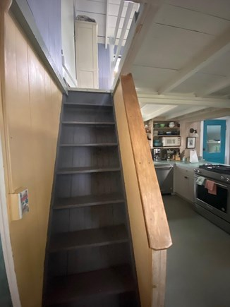 Oak Bluffs Martha's Vineyard vacation rental - Back staircase from first floor up to Queen bedroom.