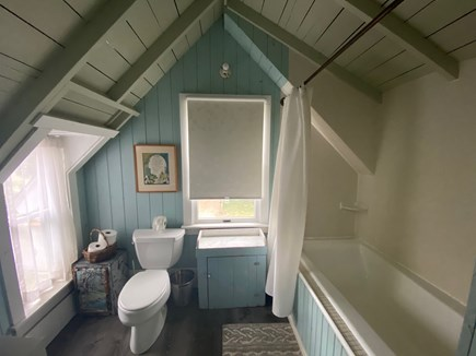 Oak Bluffs Martha's Vineyard vacation rental - Bathroom with six-foot tub with waterviews!