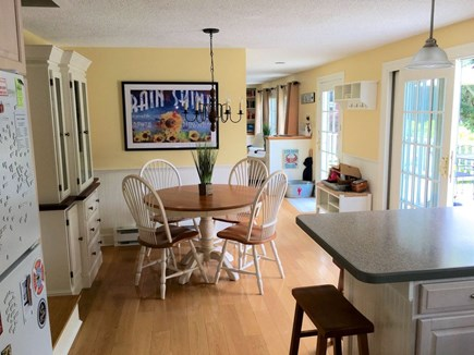 Edgartown Martha's Vineyard vacation rental - Sunny dining area next to kitchen (now has larger 6-seat table)