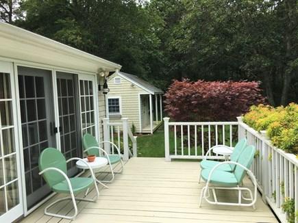 Edgartown Martha's Vineyard vacation rental - Spacious deck overlooking large private yard