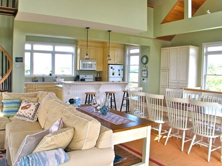 Katama - Edgartown, Edgartown Martha's Vineyard vacation rental - Open living and dining room