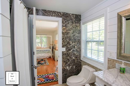 32 County Road, Oak Bluffs Martha's Vineyard vacation rental - Bathroom one with tub shower
