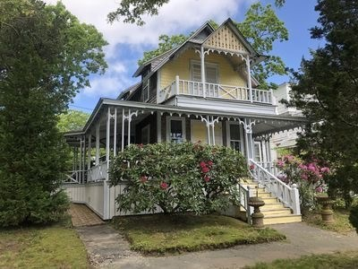 Oak Bluffs Martha's Vineyard vacation rental - Colorful Victorian cottage featuring large wrap-around porch