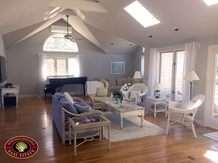 Katama - Edgartown Martha's Vineyard vacation rental - Living Room with Access to Large Deck
