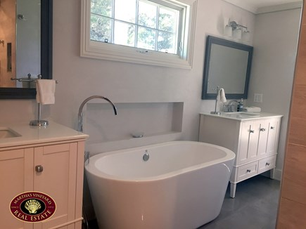 Katama - Edgartown Martha's Vineyard vacation rental - Master Bathroom with Soaking Tub