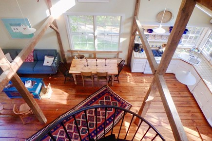 West Tisbury Martha's Vineyard vacation rental - The second story overlooks the first floor