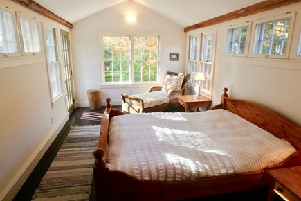 West Tisbury Martha's Vineyard vacation rental - Master bedroom has lots of natural light.