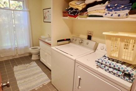 West Tisbury Martha's Vineyard vacation rental - Lovely bath with washer and dryer for convenience.