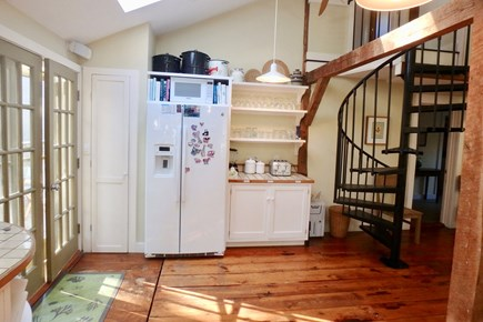 West Tisbury Martha's Vineyard vacation rental - Spiral staircase leads to a beautiful master bedroom and bath.