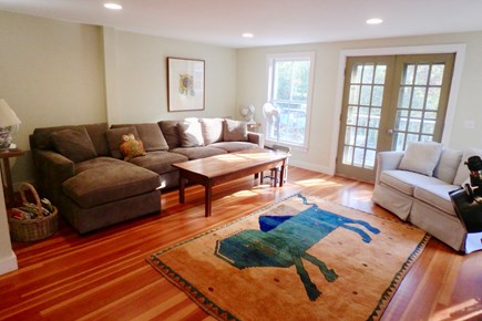 West Tisbury Martha's Vineyard vacation rental - Cozy family room with large screen TV not pictured.