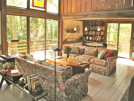 Chilmark Martha's Vineyard vacation rental - Cathedral ceilings create an inspired gathering area.
