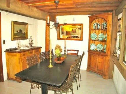 Chilmark Martha's Vineyard vacation rental - This unique dining area boasts a lot of charm.