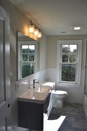 Oak Bluffs Martha's Vineyard vacation rental - Downstairs shared full bath with laundry.