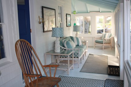 Oak Bluffs, East Chop  Martha's Vineyard vacation rental - Front wrap-around enclosed porch
