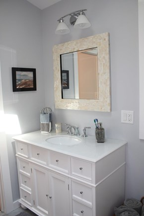 Oak Bluffs, East Chop  Martha's Vineyard vacation rental - Downstairs bathroom with walk in shower