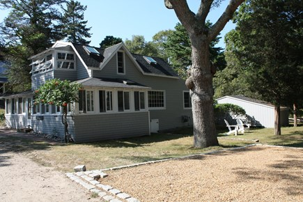 Oak Bluffs, East Chop  Martha's Vineyard vacation rental - House with large side yard and parking