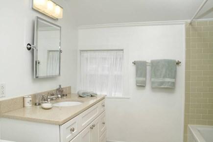 Edgartown Historic District Martha's Vineyard vacation rental - The new bathroom has tile floor; shower & tub