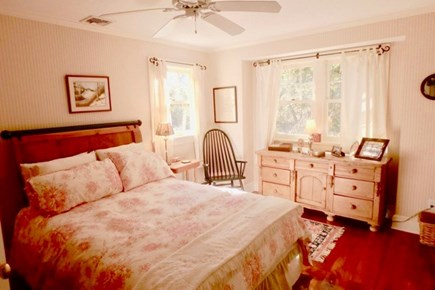 Vineyard Haven Martha's Vineyard vacation rental - This cozy full size bed has plump pillows and lovely decorations.