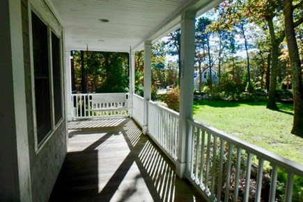 Vineyard Haven Martha's Vineyard vacation rental - Watch the kids or squirrels play from the wrap-around porch.