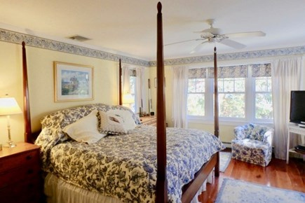 Vineyard Haven Martha's Vineyard vacation rental - Master canopy with lots of natural light for a great nights sleep