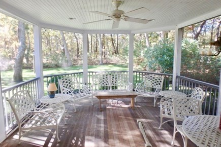 Vineyard Haven Martha's Vineyard vacation rental - Front porch is screened in and perfect for morning coffee or tea.