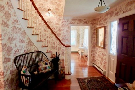 Vineyard Haven Martha's Vineyard vacation rental - Grand front entry features large spiraling staircase.