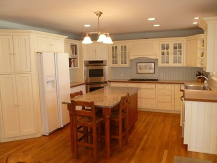 Edgartown Martha's Vineyard vacation rental - Gourmet kitchen with modern appliances and granite island.