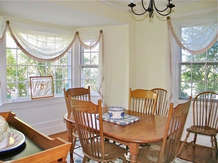 Edgartown Martha's Vineyard vacation rental - Bright living room has nice greenery outside the bay windows.