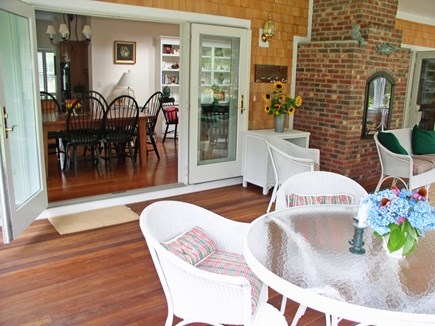 Harthaven Oak Bluffs Martha's Vineyard vacation rental - 35' X 15' fully furnished screened porch w/ FP gas barbecue