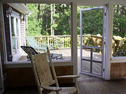 Harthaven Oak Bluffs Martha's Vineyard vacation rental - Abutting sundeck w/ french doors to 1st FL king BR