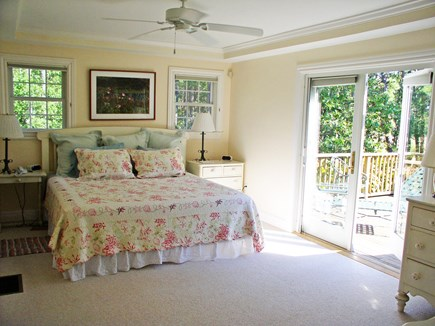 Harthaven Oak Bluffs Martha's Vineyard vacation rental - 1st FL king BR w/full BA, walk-in closet, oversized doors to deck