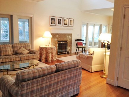 Harthaven Oak Bluffs Martha's Vineyard vacation rental - add'l LR seating area w/ 2 story height