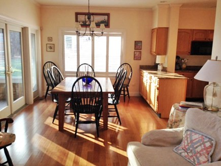 Harthaven Oak Bluffs Martha's Vineyard vacation rental - Table extends to seat 10 w/ french doors to screened porch!