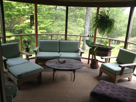 Lambert's Cove, West Tisbury Martha's Vineyard vacation rental - Screened porch off dining room