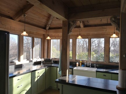 Lambert's Cove, West Tisbury Martha's Vineyard vacation rental - Kitchen with farmhouse sink