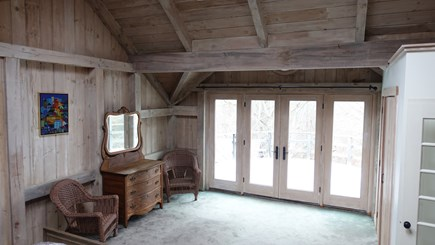 Lambert's Cove, West Tisbury Martha's Vineyard vacation rental - Master bedroom with French doors to balcony