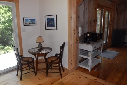 Lambert's Cove, West Tisbury Martha's Vineyard vacation rental - Guest cottage table and coffee station