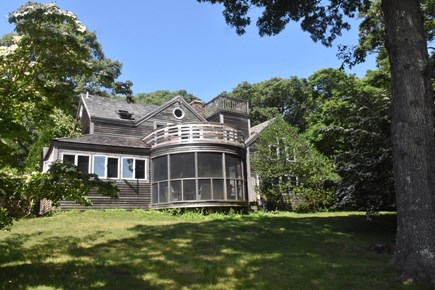 Lambert's Cove, West Tisbury Martha's Vineyard vacation rental - Main house with screened porch and balcony