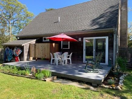 Oak Bluffs Martha's Vineyard vacation rental - Backyard Deck - Outdoor shower, Table with chairs, Herb garden
