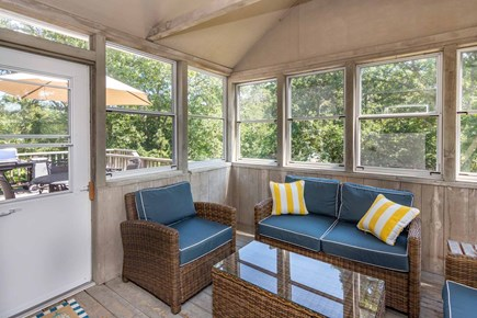 Katama - Edgartown, Edgartown Martha's Vineyard vacation rental - Screened Porch Opens From Dining/Kitchen Area