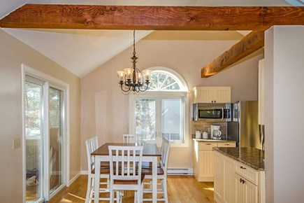 Katama - Edgartown, Edgartown Martha's Vineyard vacation rental - Dining Area Has Vaulted Ceiling, Door To Porch